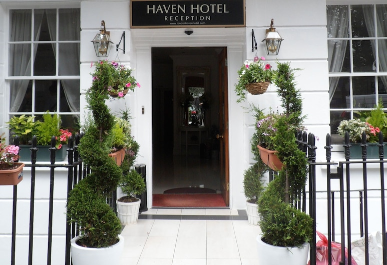 Haven Hotel, London, Hoteleingang