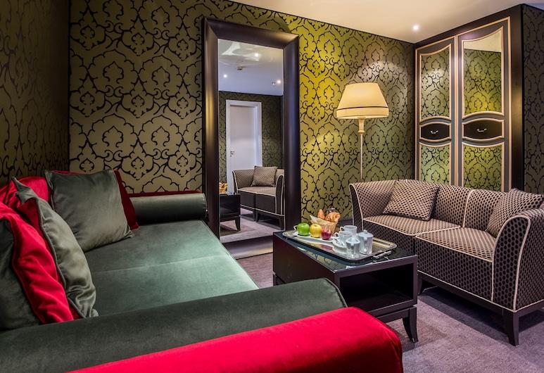 水皇宮酒店, 威尼斯, 套房, 運河景, 客廳