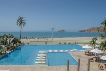 Mynd af Hotel Tamacá Beach Resort  í Santa Marta