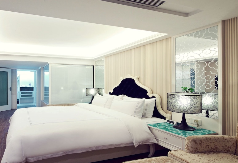 Sun Flower Hotel and Residence, Shenzhen, Duplex, 2 sypialnie (Two-Bedroom Duplex Suite), Pokój