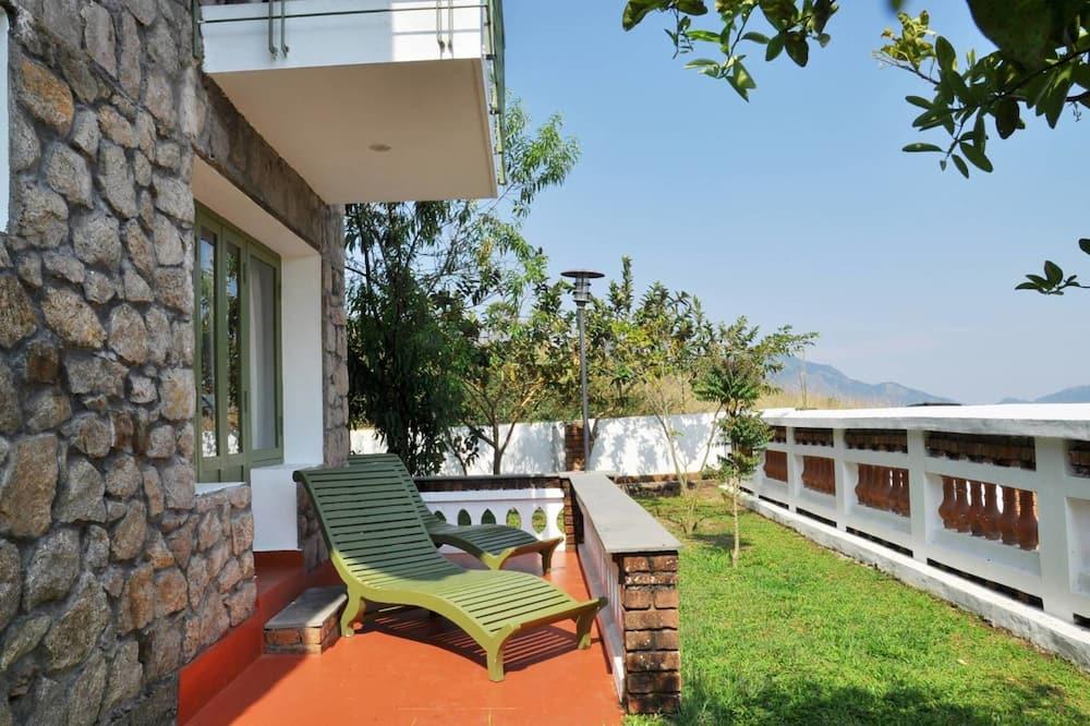 Casa de campo estándar, 1 habitación, chimenea, con vista al jardín - Balcón