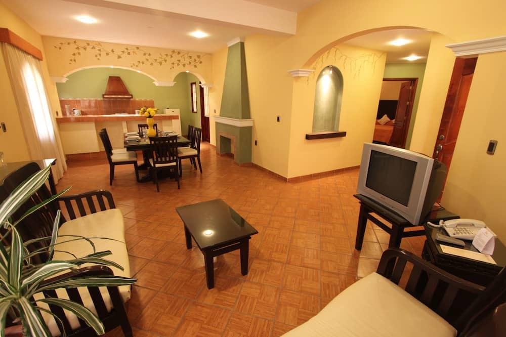 Standardní apartmá, 2 ložnice, bezbariérový přístup, přízemí - Obývací pokoj