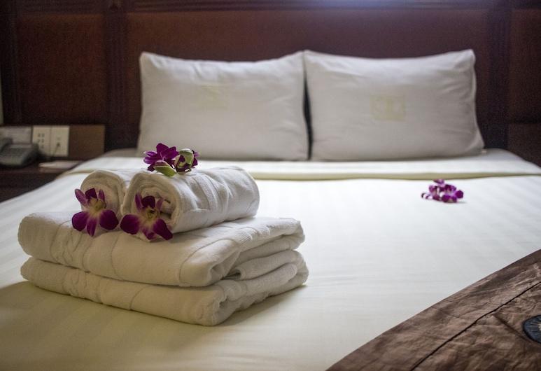 Thien Thao Hotel, Ho Chi Minh-Stad, Deluxe kamer, 1 twee- of 2 eenpersoonsbedden, Uitzicht op de stad, Kamer
