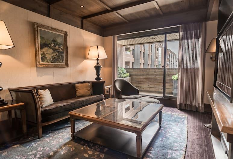 君品酒店, 台北市, 套房, 可使用商務貴賓室, 客廳
