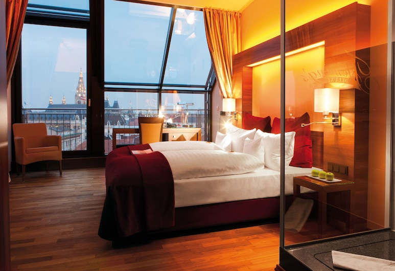 Fleming's Selection Hotel Wien-City, Vienna, Deluxe Double Room, Balcony, City View, Guest Room