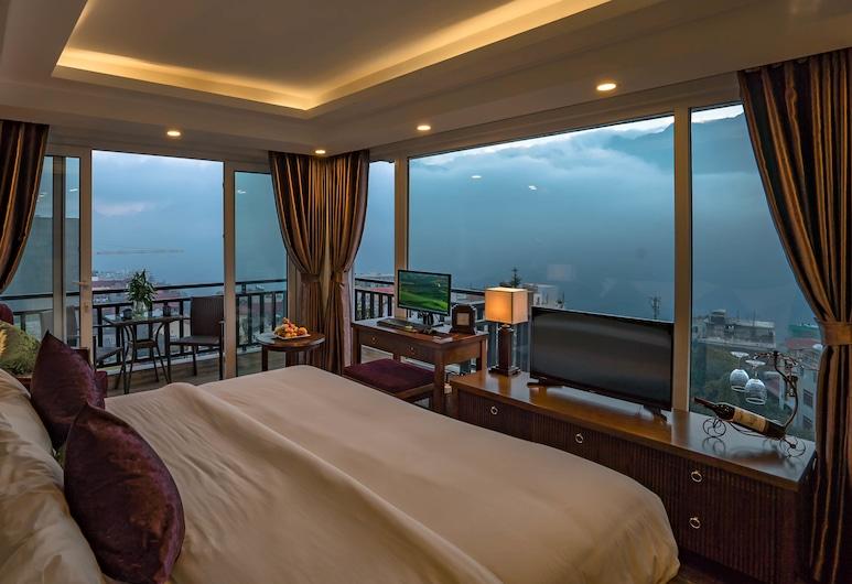 Sapa Horizon Hotel, Sa Pa, חדר פנורמי, מרפסת, נוף להר ( room with  2 balconies ), נוף מחדר האורחים
