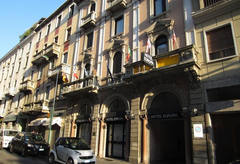 هوتل أوربا, سيستو سان جيوفاني, واجهة الفندق
