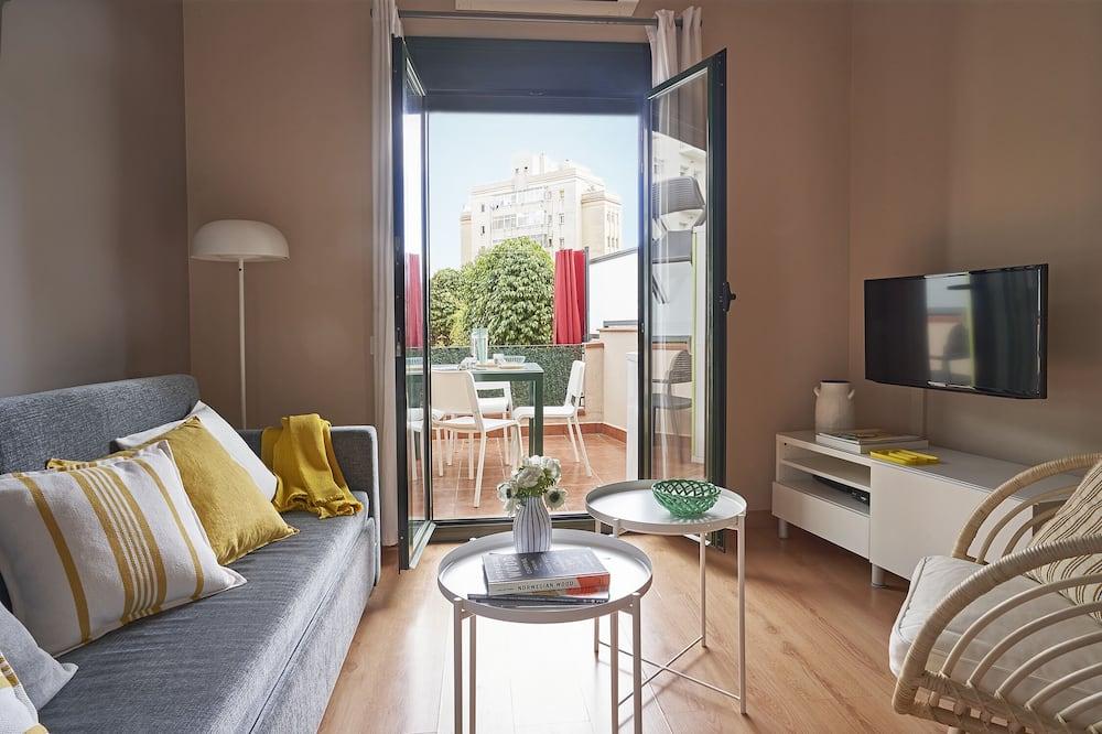 商務公寓, 1 間臥室 - 客廳