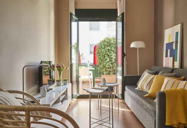 Lugaris Rambla, ברצלונה, דירת ביזנס, חדר שינה אחד, אזור מגורים