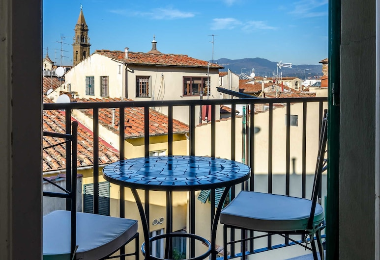 Soggiorno Pitti, Florence, Classic Double Room, 1 Bedroom, Ensuite, City View, Balcony