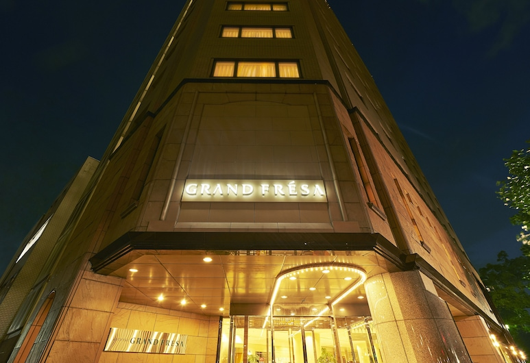 Sotetsu Grand Fresa Hiroshima, Hiroshima, Hotelfassade am Abend/bei Nacht