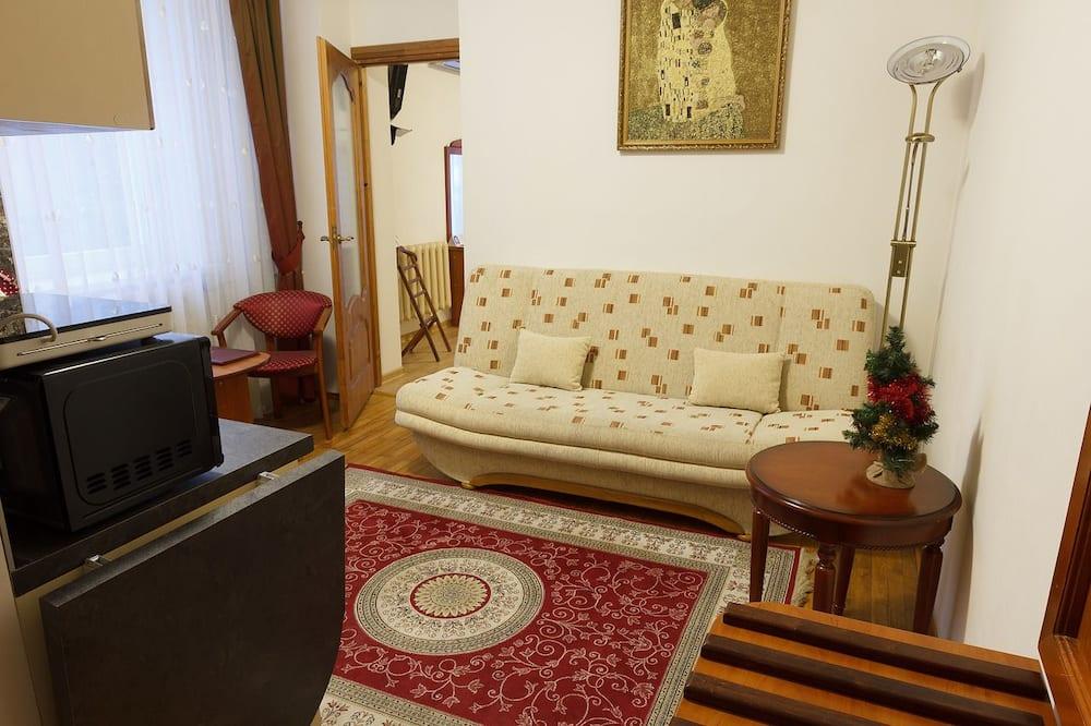 商務公寓, 1 張特大雙人床和 1 張沙發床 - 客廳