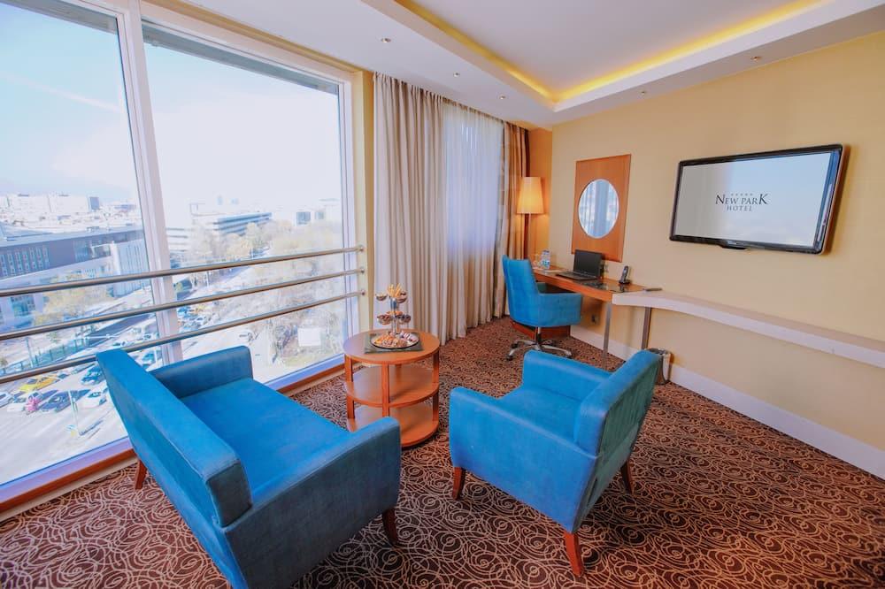 Grand Suite 1 Bedroom, 2 Bathroom, Executive Lounge & Cafe - Sala de estar
