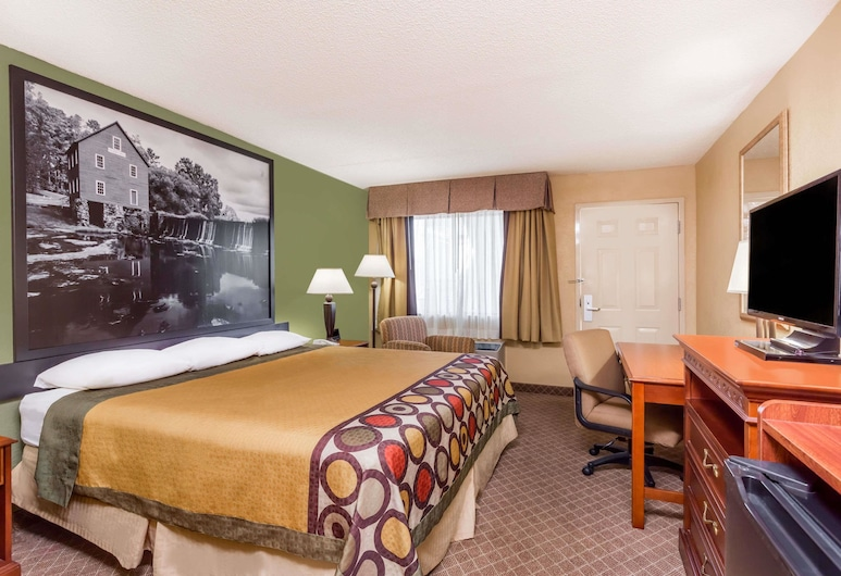 Super 8 by Wyndham Macon West, Macon, Standard Room, 1 King Bed, Smoking, Guest Room