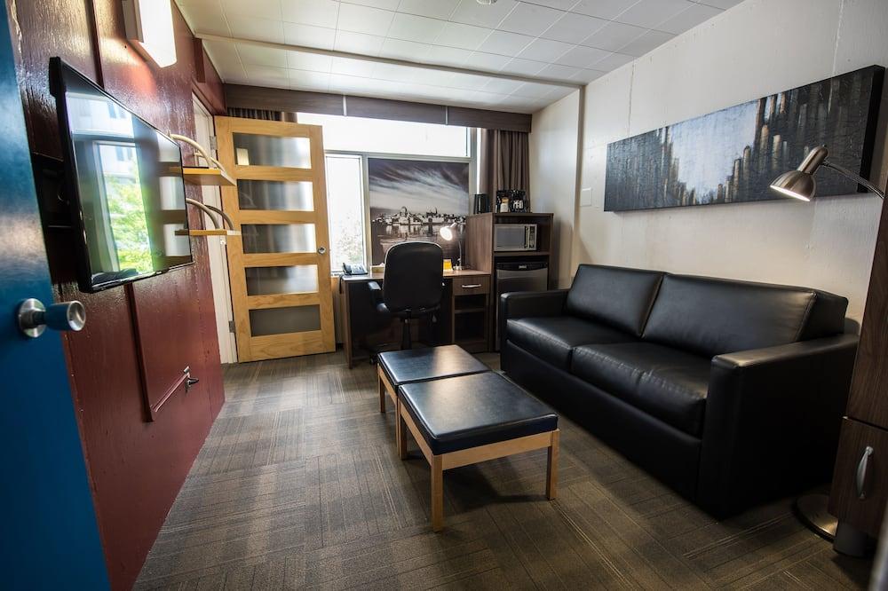 חדר, מיטת קווין, חדר רחצה פרטי - אזור מגורים