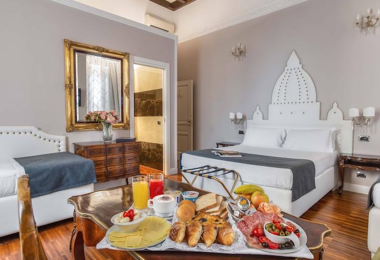 I Tre Moschettieri, Rome, Suite Junior, plusieurs lits, balcon, vue ville, Chambre