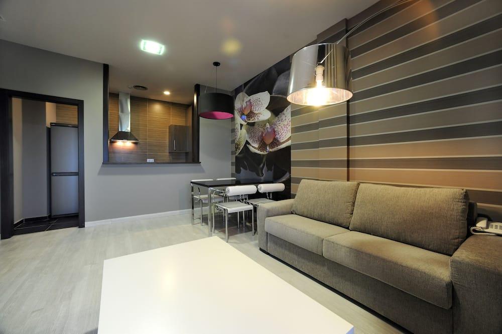 شقة - غرفتا نوم - بمنظر للمسبح (4 adults + 2 children) - منطقة المعيشة