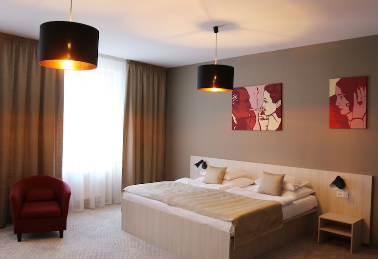 1. Republic Hotel, Praga, Suíte luxo, 2 quartos, Quarto
