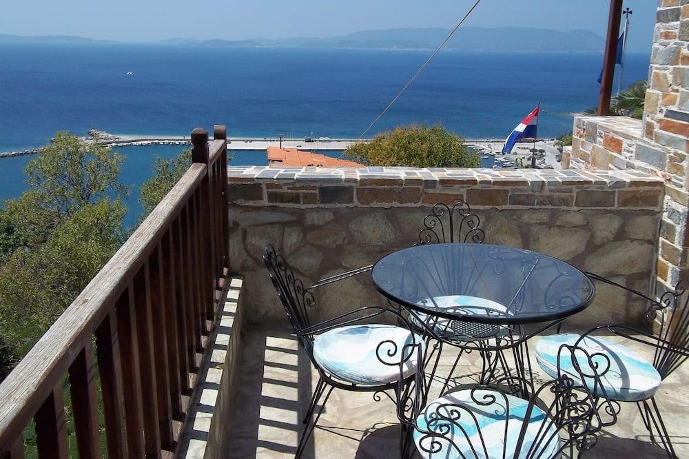 Studio rodzinne, 2 sypialnie, widok na morze - Balkon