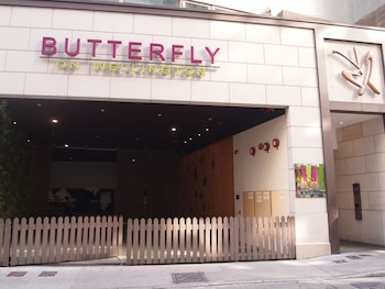 Picture of Butterfly on Wellington in Hong Kong