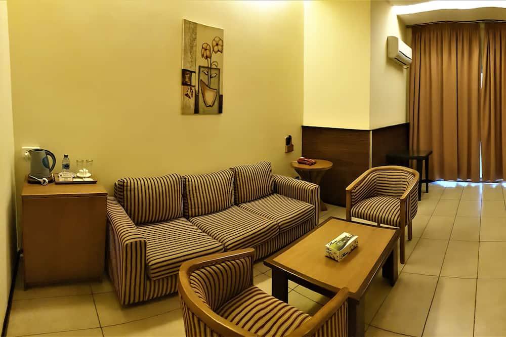 Darījumklases luksusa numurs, divas guļamistabas - Dzīvojamā zona