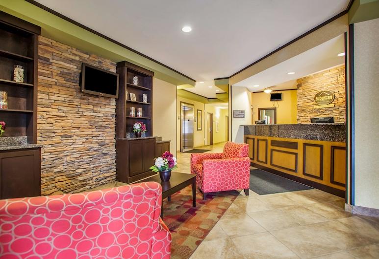 Suburban Extended Stay Hotel Cedar Falls, Cedar Falls, Sala de estar en el lobby
