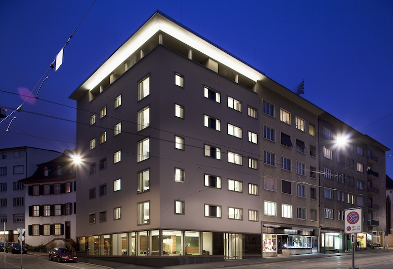 Hotel D Basel, Basel, Hotel Front – Evening/Night