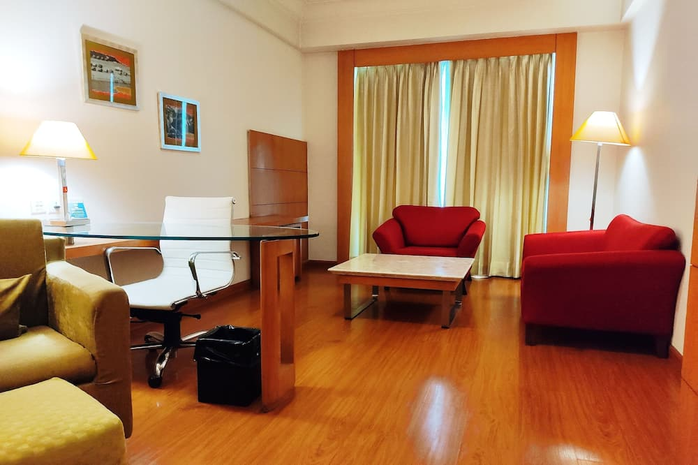 Suite ejecutiva, 1 cama de matrimonio grande - Zona de estar