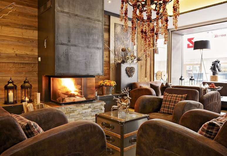 Hotel Piz, Saint-Moritz, Bar-salon de l'hôtel