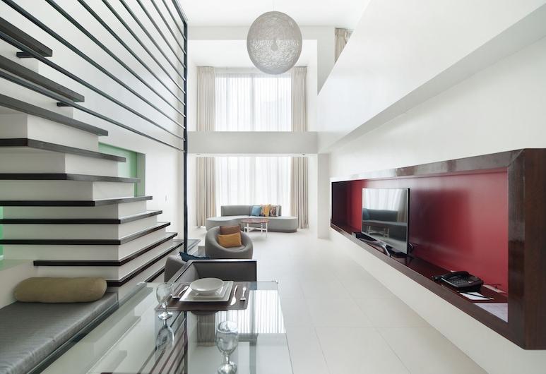The Picasso Boutique Serviced Residences, Makati, Çatı Katı (Loft), 1 Yatak Odası, Sigara İçilmez, Mutfak (The Picasso), Oturma Alanı