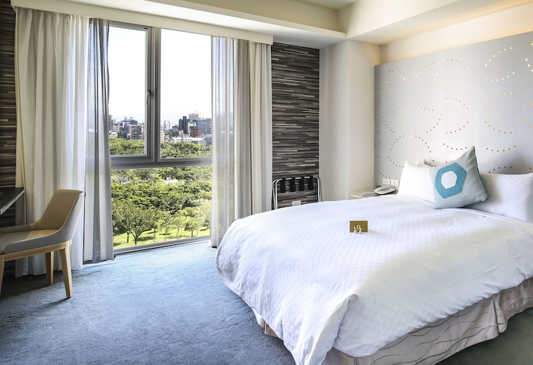 Dandy Hotel Daan Park Branch, Taipei, Deluxe kamer, uitzicht op park, Kamer