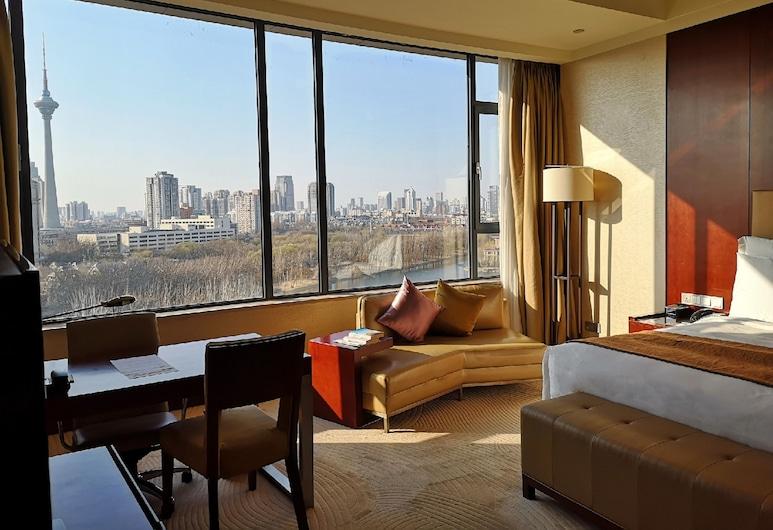 Renaissance Tianjin Lakeview Hotel, Tiandzinas, Aukštesnės klasės kambarys, 1 labai didelė dvigulė lova, Nerūkantiesiems, vaizdas, Svečių kambarys
