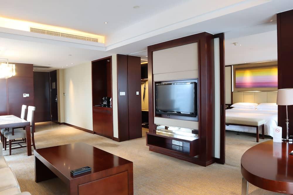Executive suite, 1 spavaća soba, pogled na park - Dnevna soba