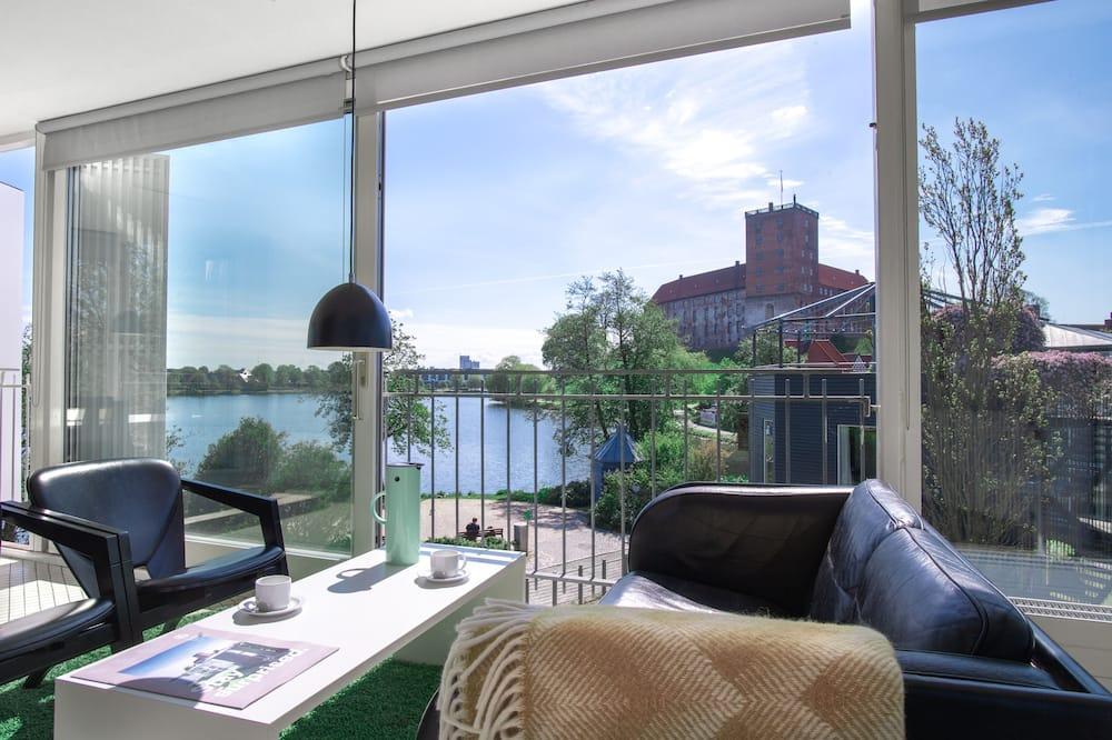 Apartment, 1 Schlafzimmer, eingeschränkter Seeblick - Wohnbereich