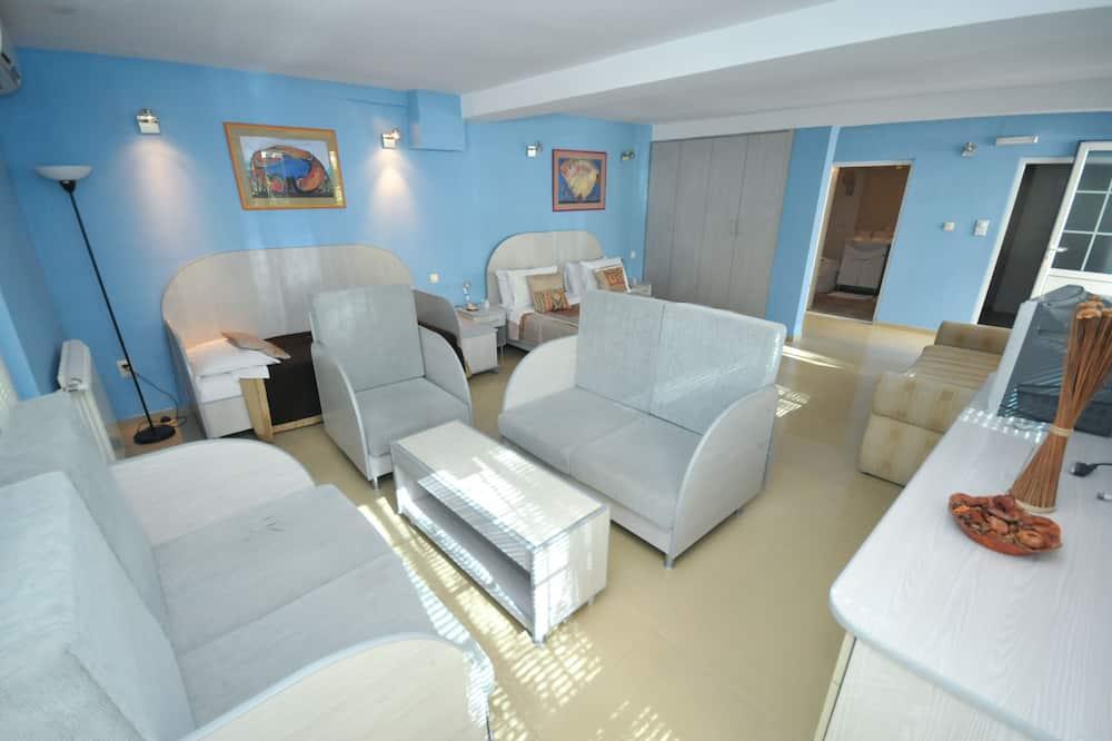Standarta studijas tipa luksusa numurs, balkons - Dzīvojamā zona