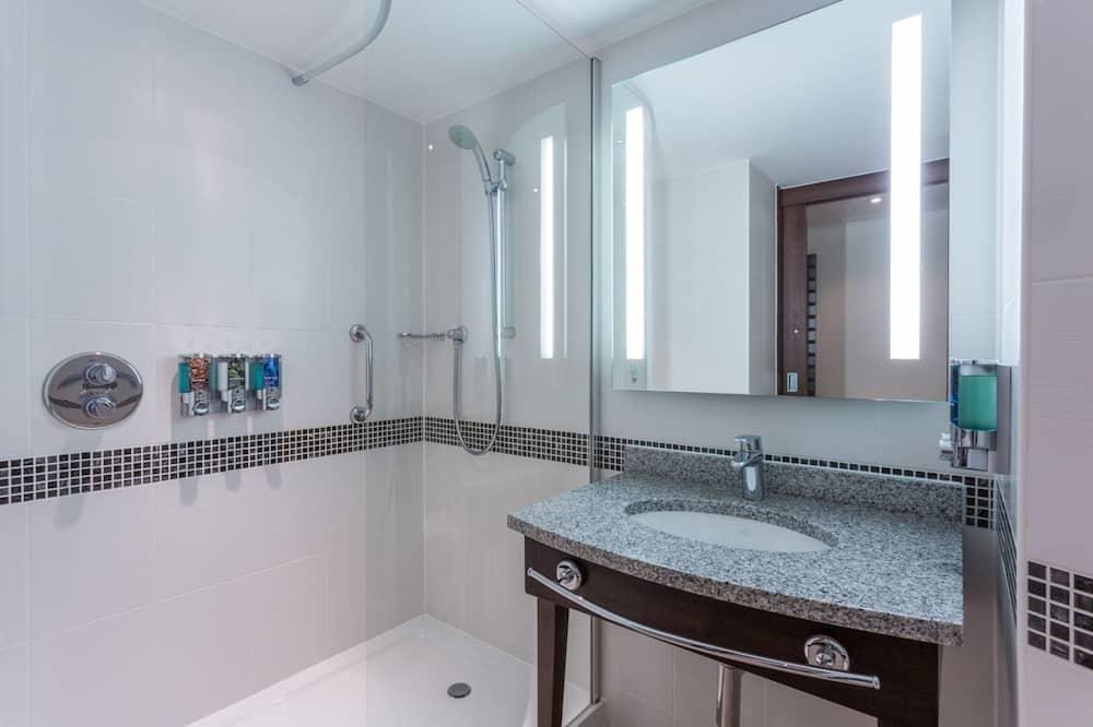 룸, 퀸사이즈침대 1개, 장애인 지원, 금연 - 욕실