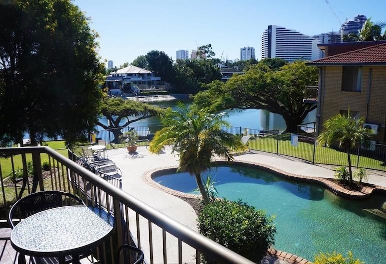 Jadon Place, Broadbeach Waters, Appartement Standard, 2 chambres, cuisine (Minimum 2 Night Stay), Piscine en plein air
