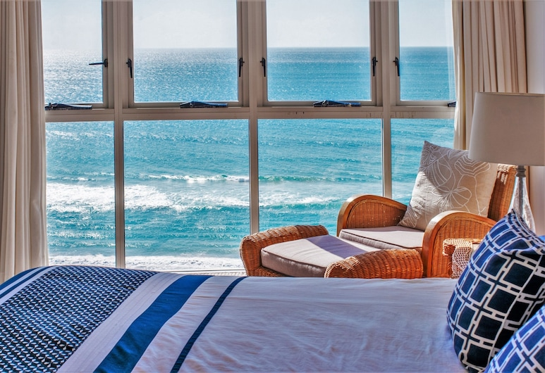 Indigo Blue Beachfront Apartments, Burleigh Heads, Apartamento, 3 habitaciones, cocina (1 Night, Ocean Views), Habitación