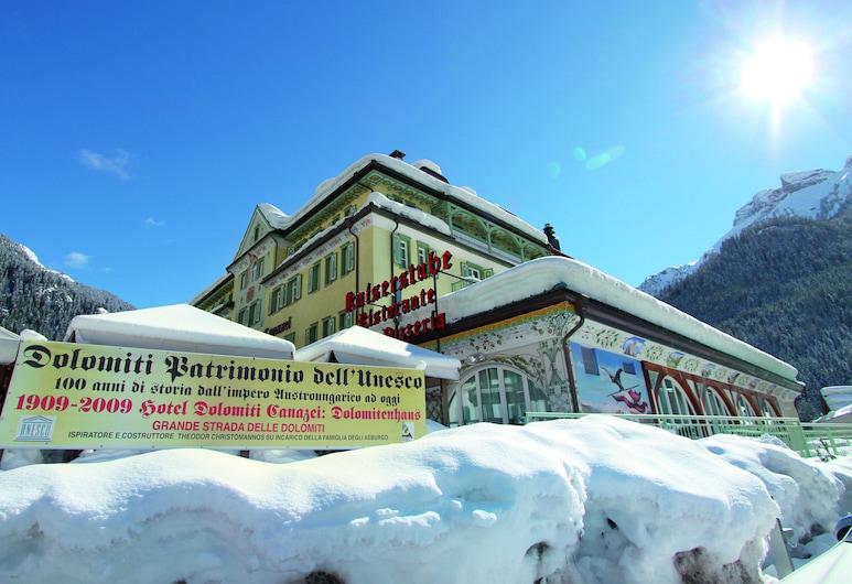 Dolomiti, Canazei, Viešbučio fasadas
