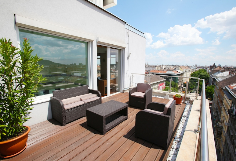 Medos Hotel, Budapest, Apartamento panorámico, terraza, Habitación