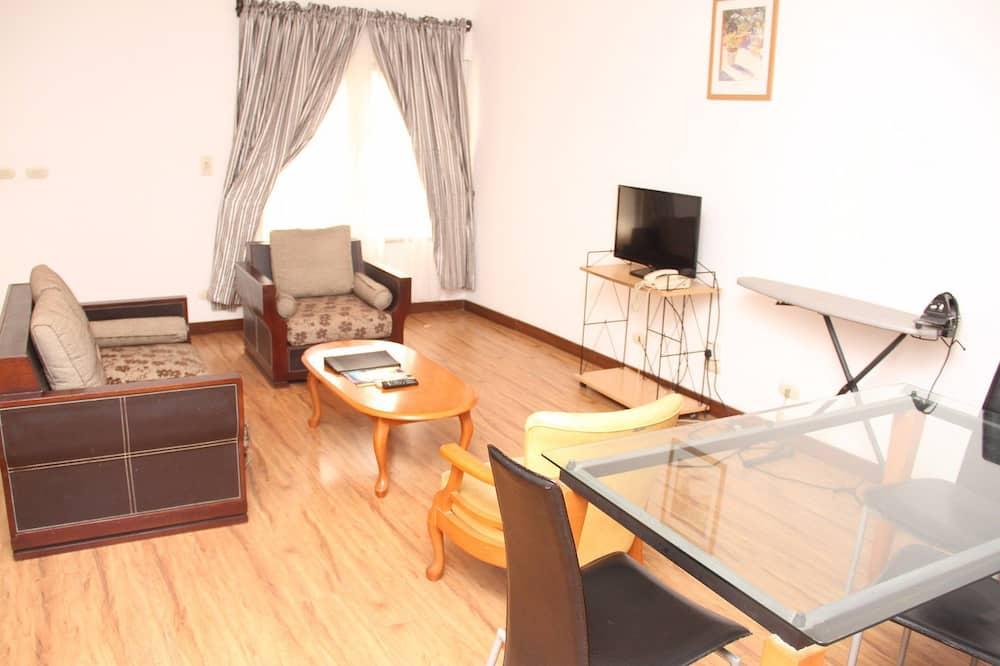Dvoupodlažní apartmá, 3 ložnice - Obývací prostor