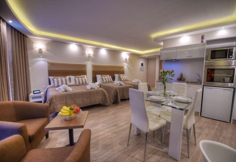 Onyx Suites & Apartments, St. Julians, Estudio (Quad), Habitación