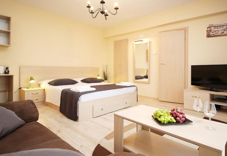 Bucharest Serviced Apartments, Bukarest, Superior-Studio, 1 Queen-Bett, Küche, Zimmer