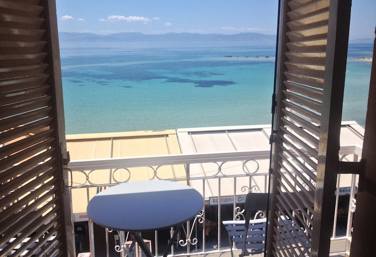 Hotel Plaza, Egina, Habitación doble, vista al mar, Balcón