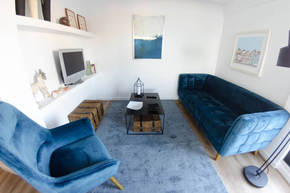 Apartment, 2Schlafzimmer, Buchtblick - Wohnzimmer