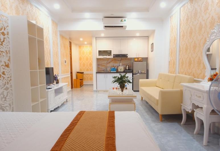 Pho Xanh Apartment & Hotel, ไฮฟอง, พรีเมียมอพาร์ทเมนท์, ห้องครัว, ริมทะเลสาบ, วิวจากห้องพัก
