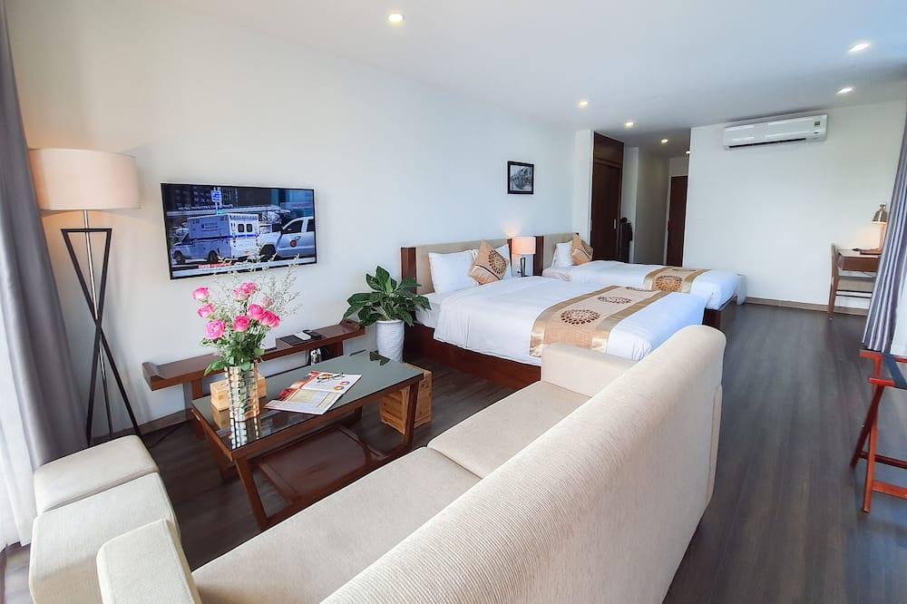 Habitación ejecutiva con 1 cama doble o 2 individuales - Sala de estar