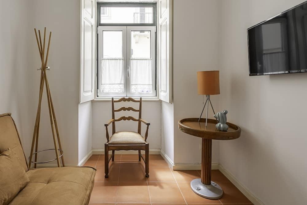 Apartment, 1 Schlafzimmer, Terrasse - Wohnzimmer