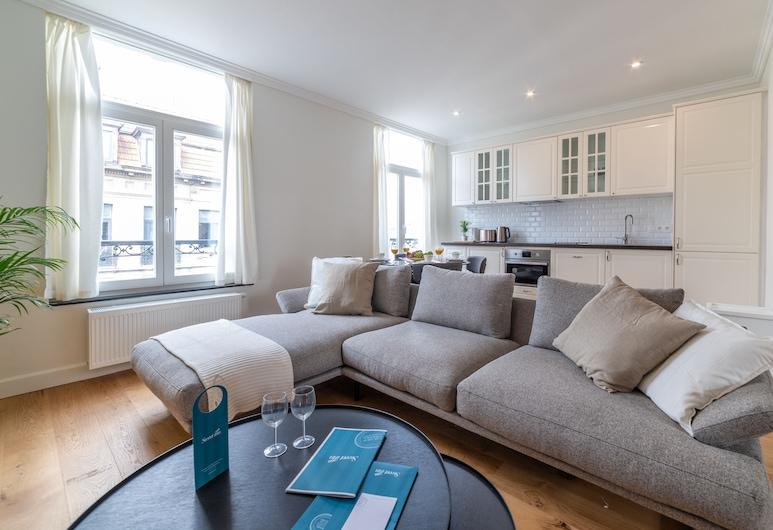 Sweet Inn Apartments - Ste Catherine, Bruxelas, Apartamento, 1 Quarto (Dansaert VII), Área de Estar