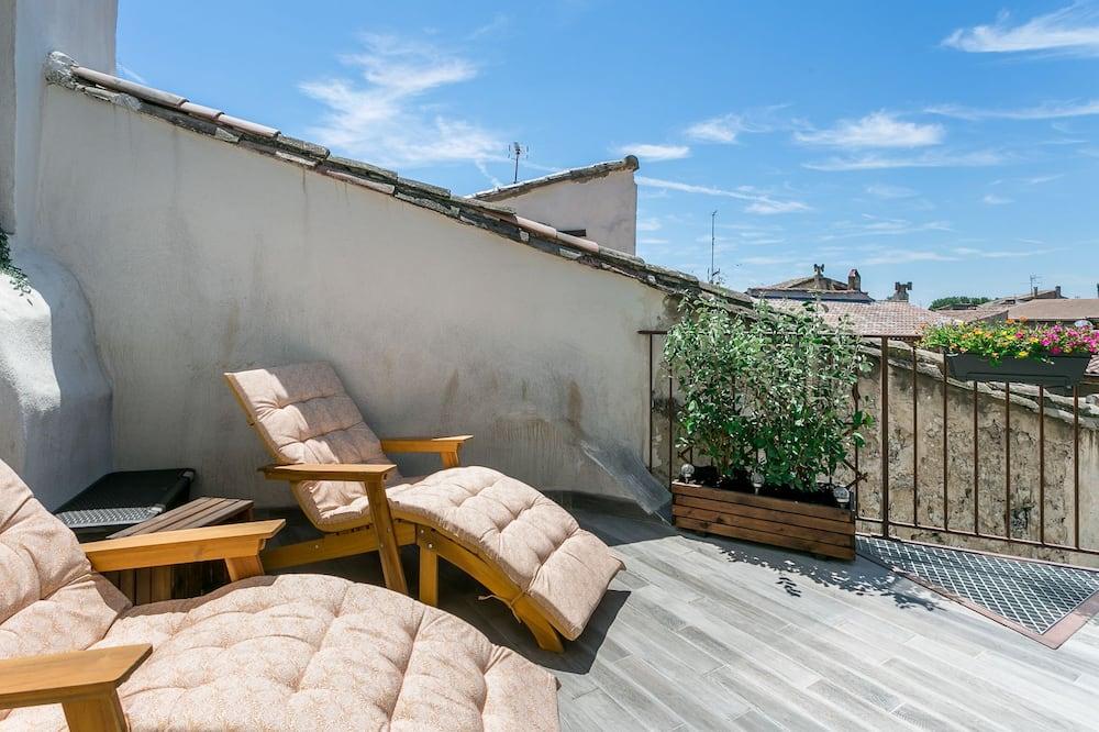 Apartmán typu Exclusive, vlastná kúpeľňa, výhľad na mesto (Nuit Etoilée) - Výhľad z balkóna